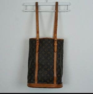 AUTHENTIC LOUIS VUITTON MONOGRAM CANVAS BUCKET GM